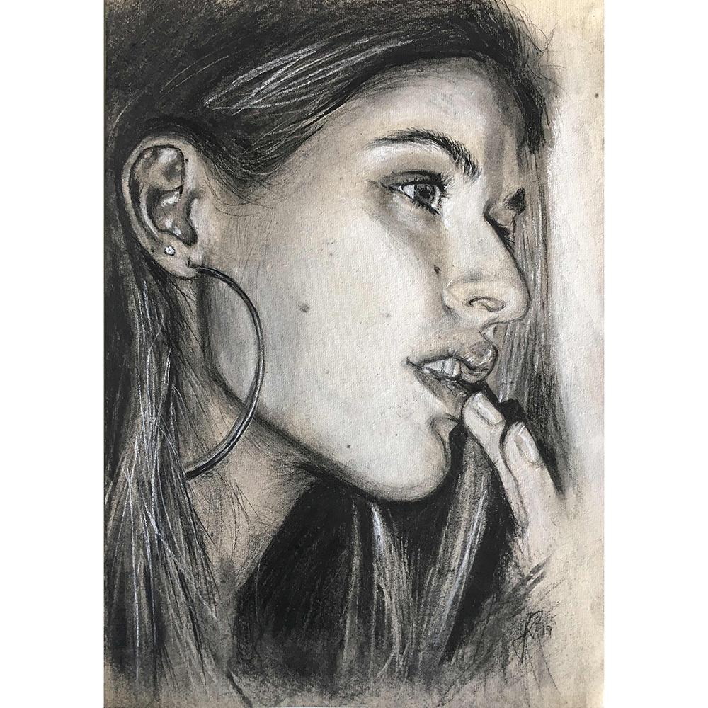 portraettegning unik gaveide til ham eller hende