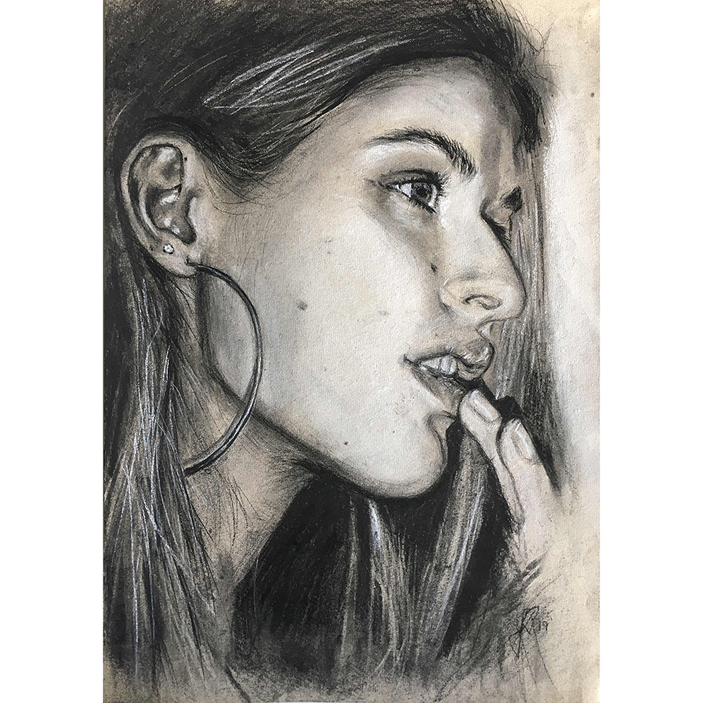 portraettegning unik gaveide til ham eller hende portrættegner