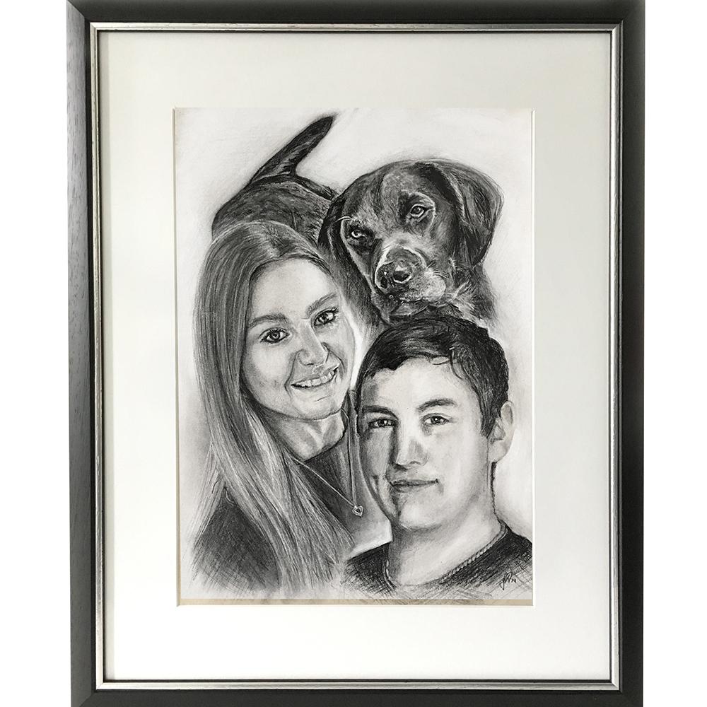portraettegning_gaveide_bryllup_til_ham_hende_morgengave
