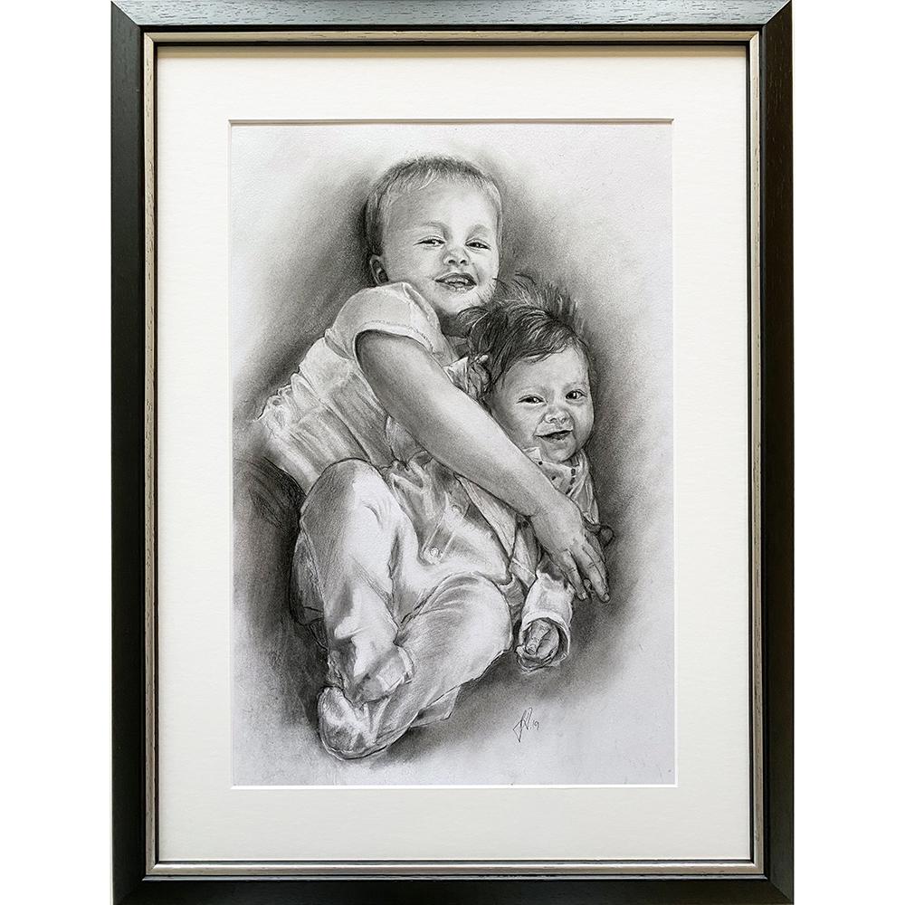 portraettegning_portraettegner_barn_boern_jule_gaveide_unik_bro_soester_portraitdrawing