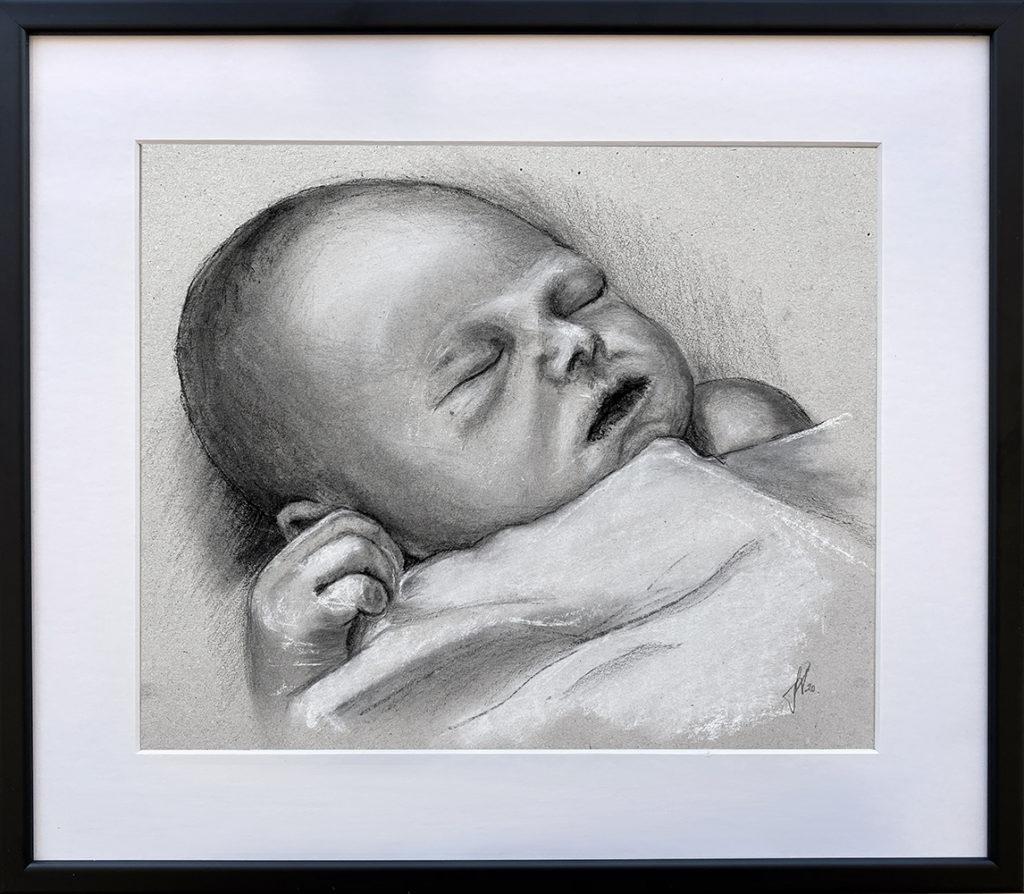tegning_doedfoedt_barn_baby_englebarn_engleboern_portraettegning_portraettegner