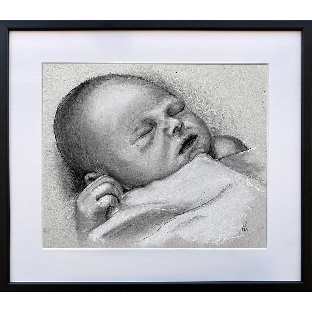 tegning_doedfoedt_barn_baby_engleboern_englebarn_portraettegning_portraettegner