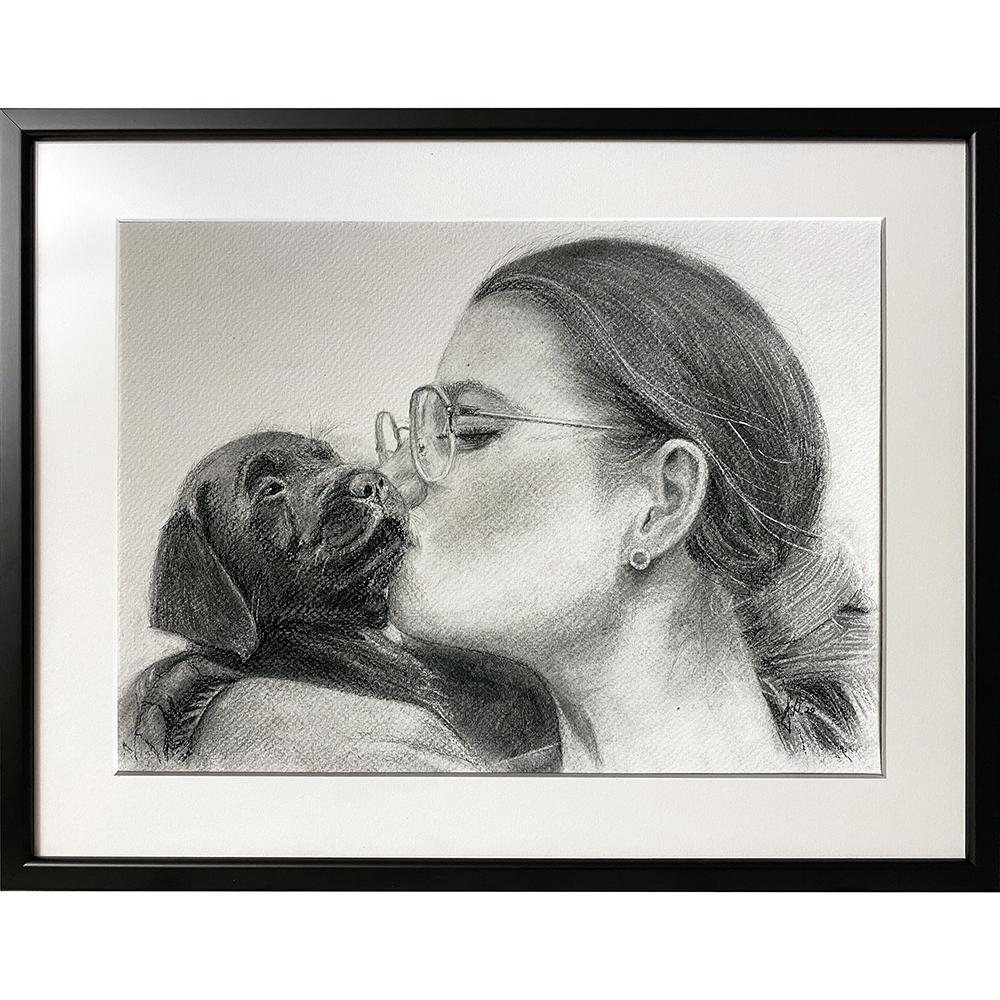 julegaveide_tegning_portraettegning_julegave_portraettegner_foedselsdagsgave_blyant