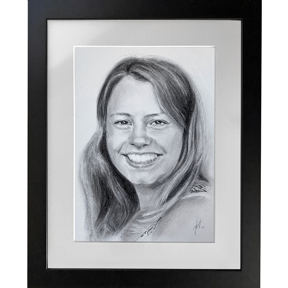 camilla-portraet-tegning-gaveide-til-foraeldre-portraettegner